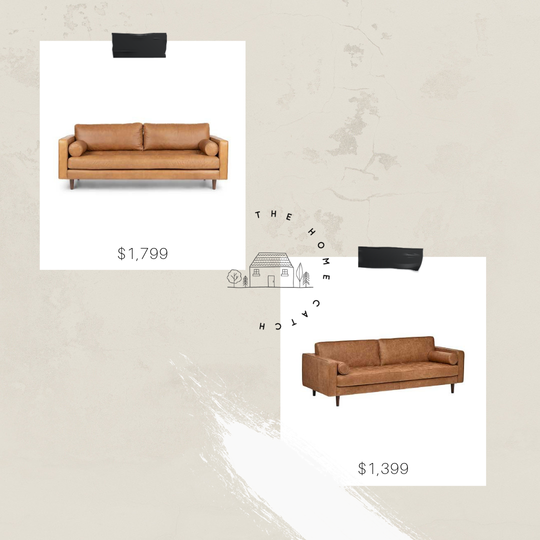 Sven sofa look for less, modern leather sofa for less money.