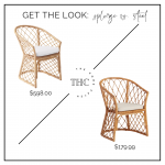 Serena and Lily Avalon Dining Chair dupe // look for less style