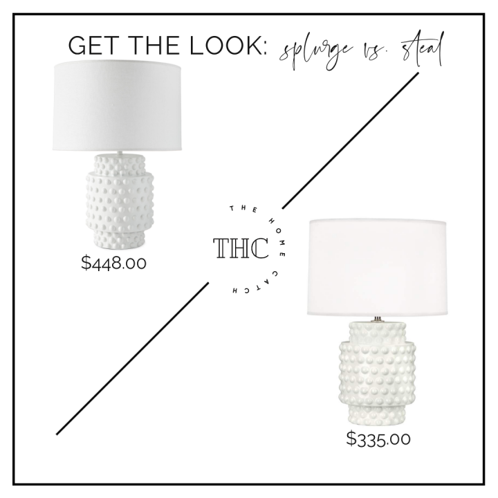 Serena and Lily Tinsley lamp for $100 less