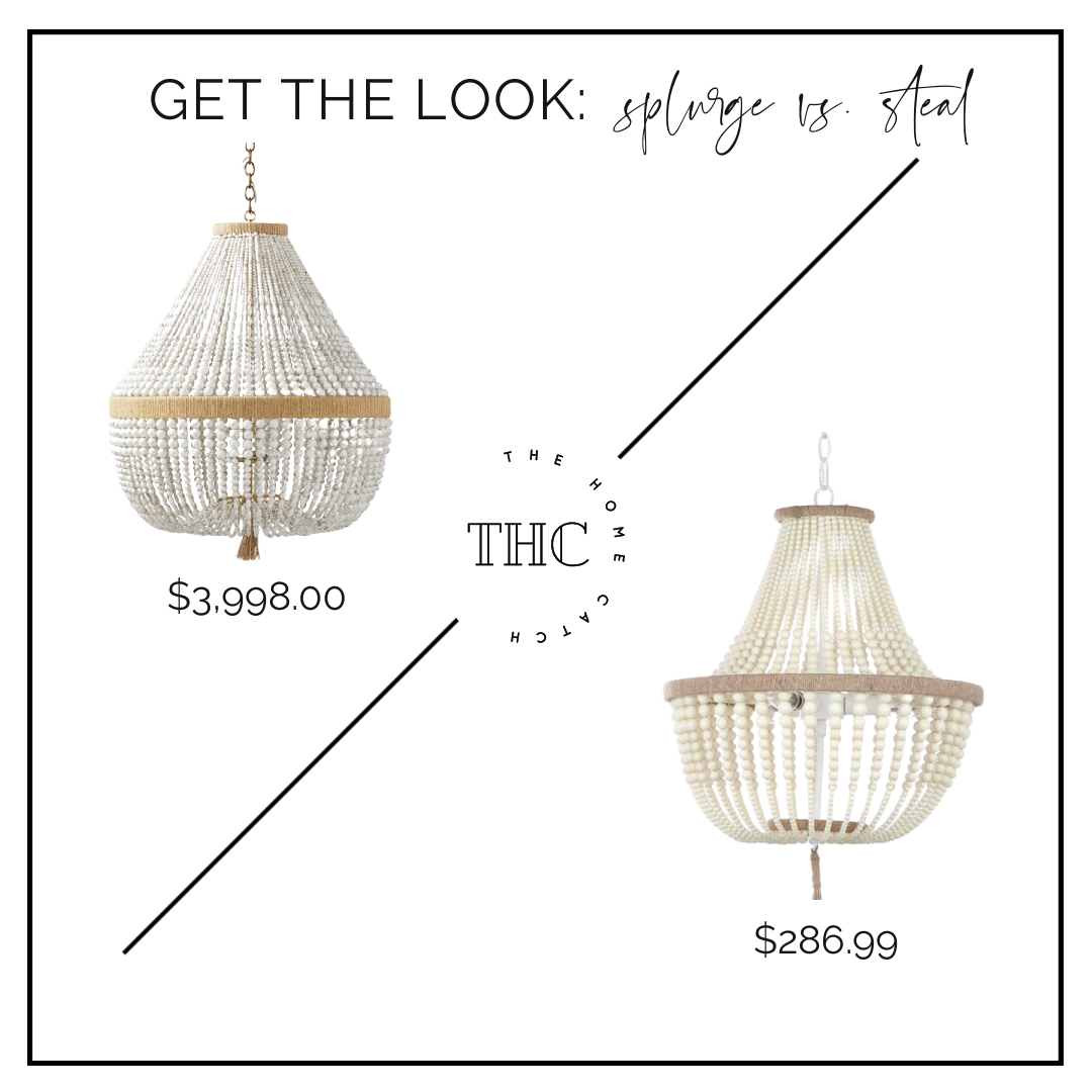 Ventura Chandelier Serena and Lily look for less dupe copycat